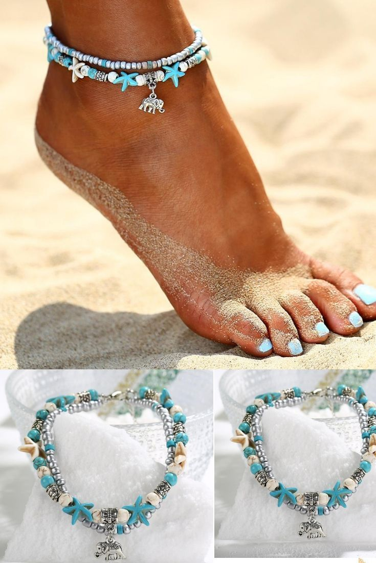 9ff6988632164b summer beach anklets #bohemian #jewelry #anklets #hippie #gypsy #summer  #fashion #unique