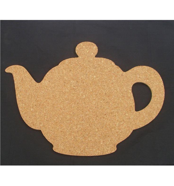 Teapot bulletin board made of cork