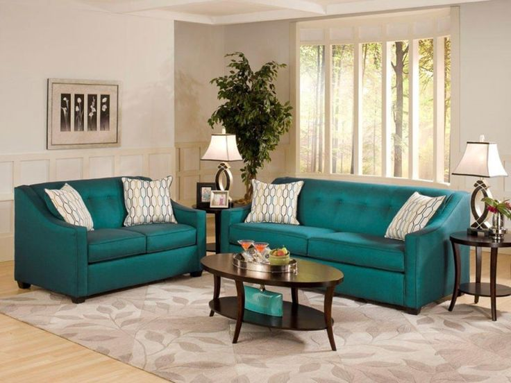 Attractive Living Room Ideas Teal Sofa