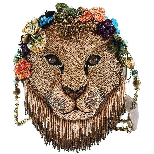 Girl Pride Beaded Lion Shoulder Handbag ❤ liked on Polyvore featuring bags, handbags, shoulder bags, animals, bead, clutches, embellish, brown hand bags, animal purse and handbags shoulder bags