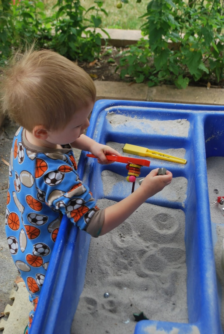 Magnet Hunt in the Sand Table | Familylicious Reviews and Giveaways