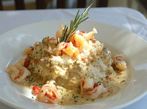 Shrimp With Tasso Cream Over Stone-Ground Grits - southern kitchen.com