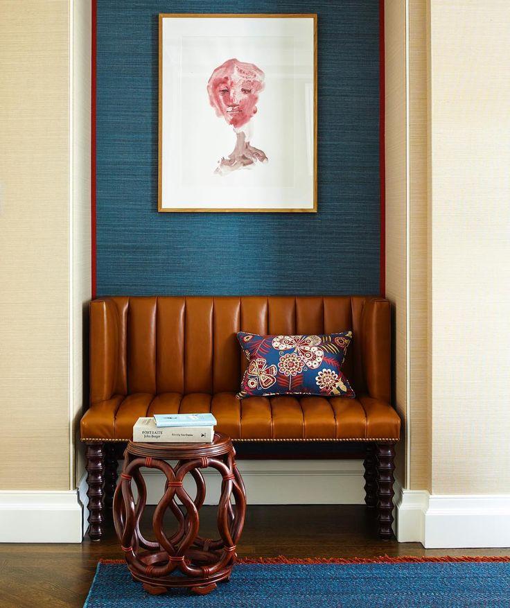 Navy Grasscloth Wallpaper And Gold Rivets Mirror: Best 25+ Grass Cloth Wallpaper Ideas On Pinterest