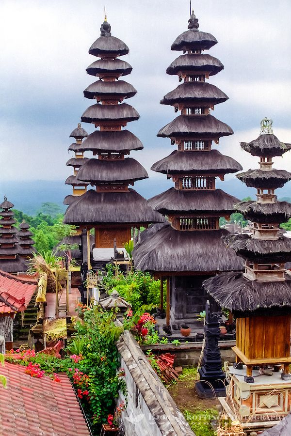 THE MOTHER TEMPLE OF BESAKIH ~  Pura Besakih, Bali. A Hindu place of worship since 1284, it is actually a complex made up of 22 temples.