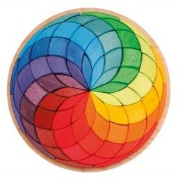 Grimm's - Circle Spiral Mandala Puzzle - love this gorgeous wooden puzzle, I can imagine kids young and old finding different uses for the blocks #EntropyWishList #PinToWin