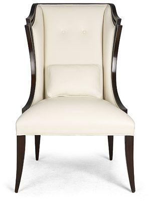 LUCCA A gorgeous tall back winged dining chair design... classic Christopher Guy.