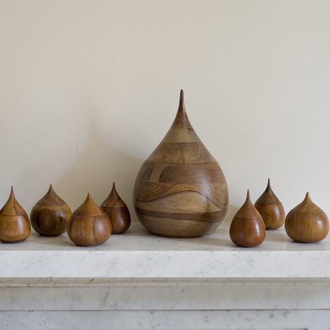 Wooden teardrop vessels - love these