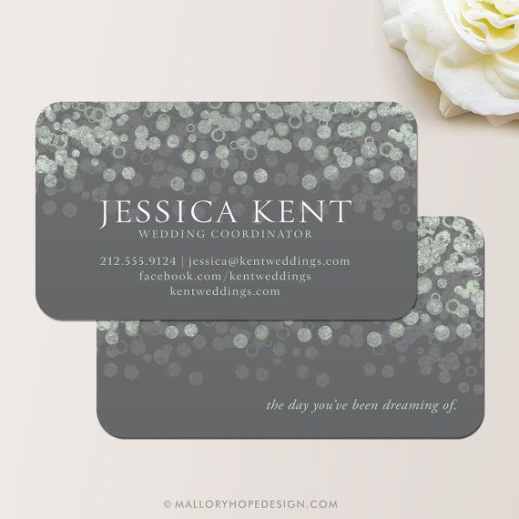 Champagne Bubbles Business Card Calling Contact Interior Designer Event Planner