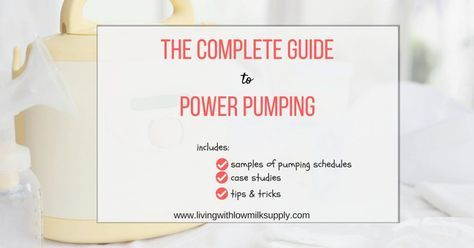 Do you want to do power pumping to increase your milk supply? Learn how to do it in this complete guide (includes sample of power pumping schedules. case studies, and tips to make it work).