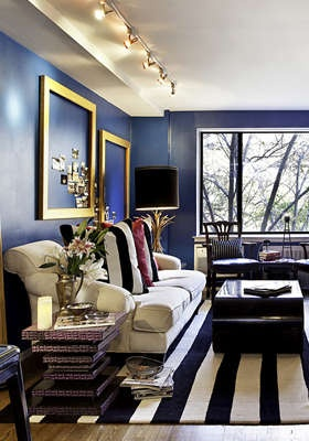 blue color for living room walls
