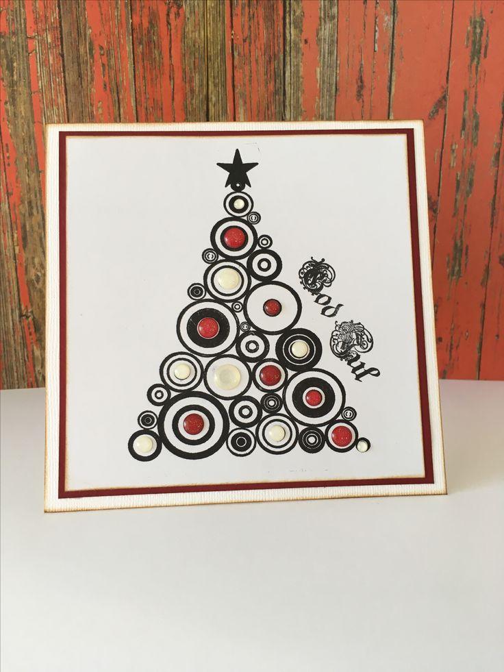 Christmascard. Enameldots