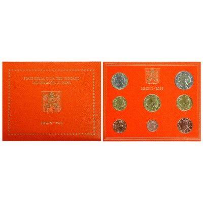 Vatikan, Franziskus, Euro-Kursmünzensatz 2016, st: Franziskus seit 2013. Euro-Kursmünzensatz 2016. 8 Münzen - 1 Cent bis 2 Euro. In… #coins