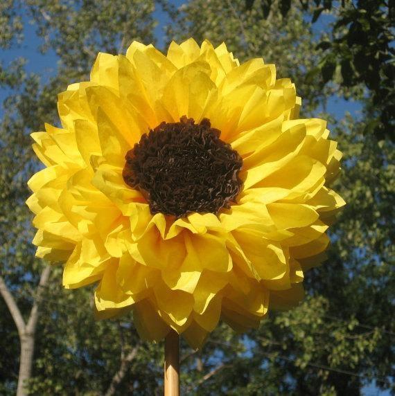 Ahnliche Artikel Wie 12 Diy 9 Tissue Paper Sunflowers Peonies