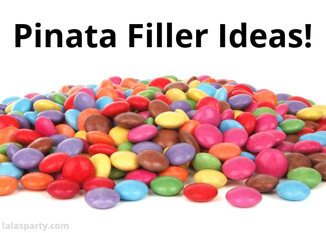Pinata Filler Ideas with alternatives to candy,.