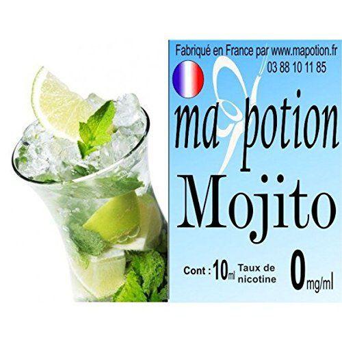 MA POTION – E-Liquide saveur Mojito, Eliquide Français Ma Potion, recharge liquide pour cigarette électronique. Sans nicotine ni tabac:…