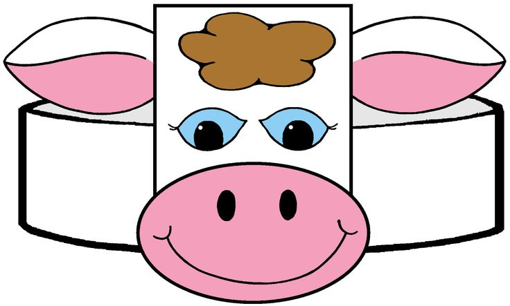 Trust image with printable cow hat
