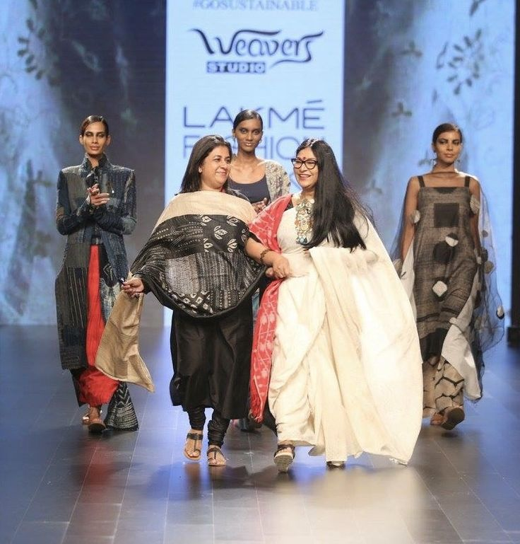 #throwbackthursday  Looking back at our first #LakmeFashionWeek show. #exhilarating #hancraftedtextiles #luxurytextilesanddesign #IndianTextiles #DarshanShah