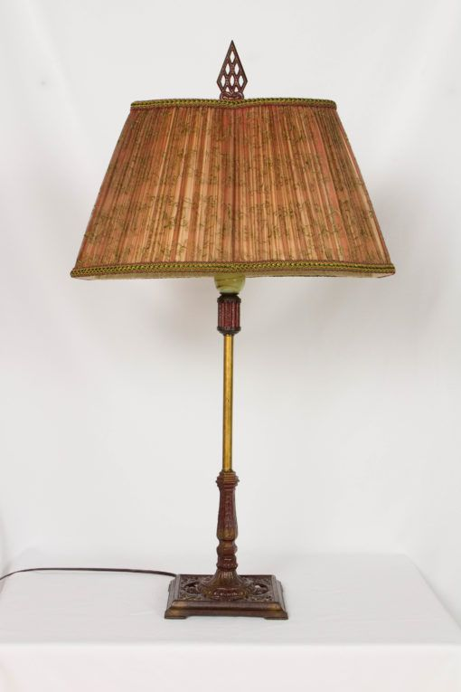 Art Deco Cigar Stand Table Lamp With Red Base Lamp Table Lamp Art Deco