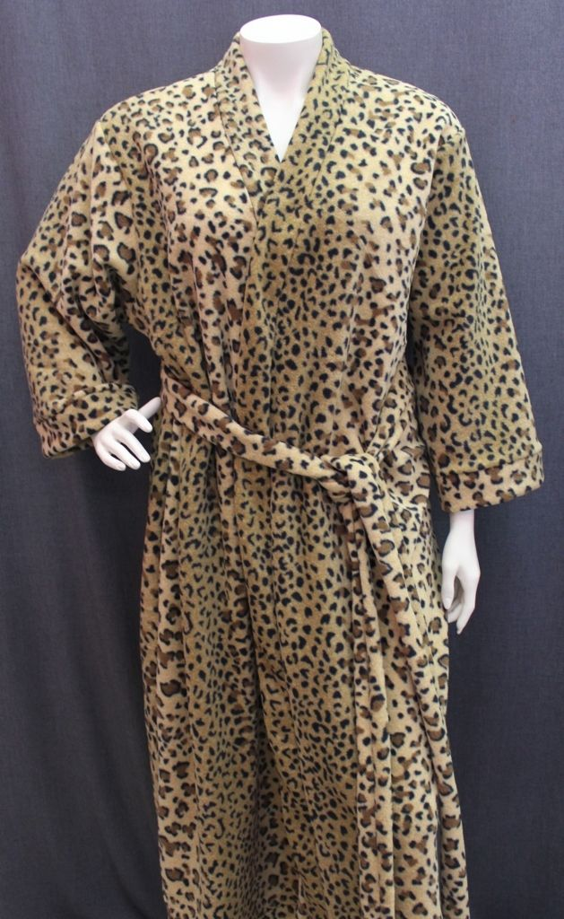 Polar Fleece Dressing Gown - Lisa's Lacies : Sleepwear-Dressing Gowns : Lisa's Lacies Plus Size Lingerie