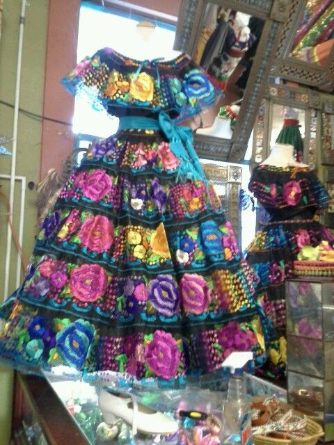 Olvera street Mexican traditional dress
