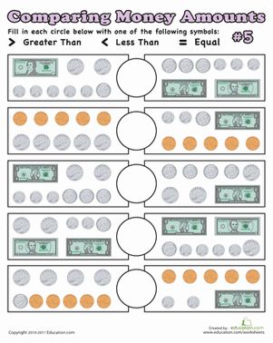 Collection Comparing Money Worksheets Photos - Studioxcess