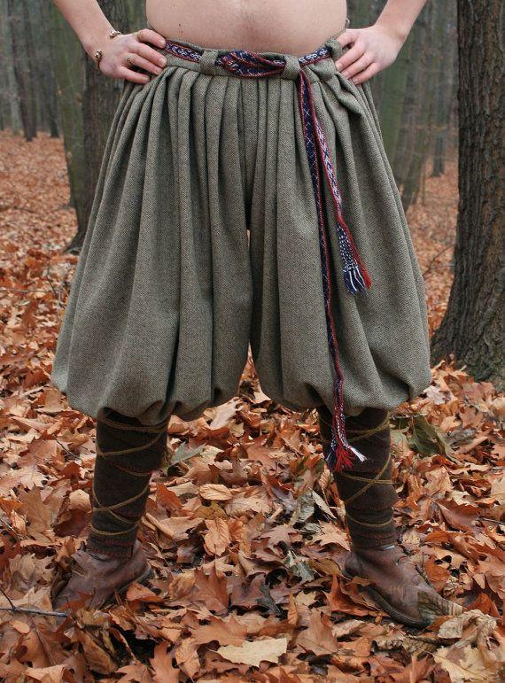 Viking Woolen TROUSERS Relica from Birka Pants Norse Wool Handmade Re-enactment Medieval Vikings Sca Larp Costume Dress Varangian Varyag