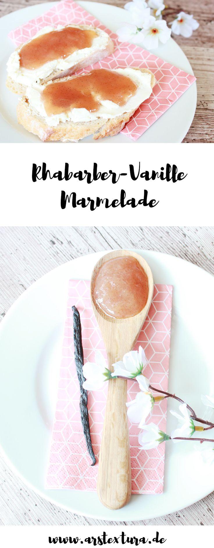 Rhabarber Vanille Marmelade - Leckeres Frühlingsrezept