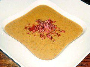 lencse leves,füstölt sajttal