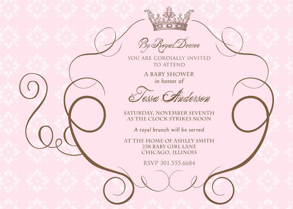 Cinderellau0027s Royal Carriage Baby Shower Invitation