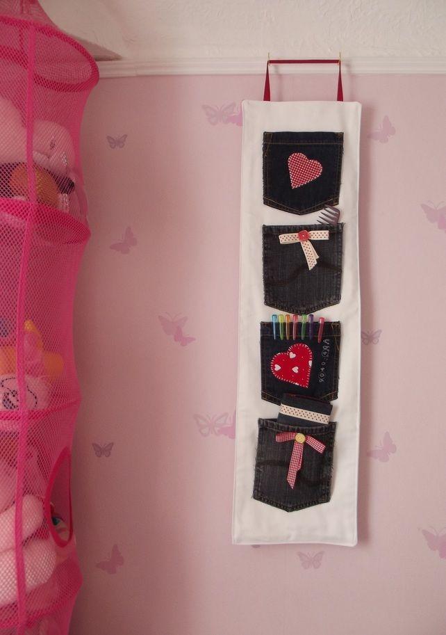 Hanging Storage with Denim Pockets £10.00