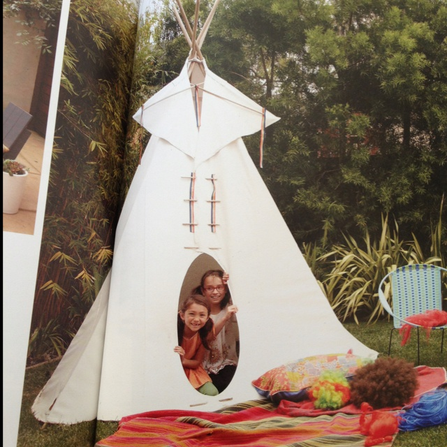 Officially want a teepee for the girls. (photo by Thayer Allyson Gowdy for Anthology 2011)