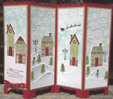 "Handmade""HOLIDAY HOME "" CHRISTMAS SCREEN DIVIDER Greeting Card STAMPIN' UP"