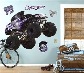 Cool Party Supplies Monster Jam Mohawk Warrior Giant Wall Decal just added...