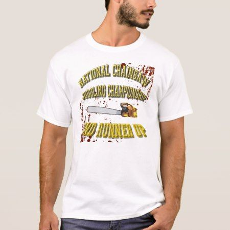 Chainsaw Juggling T-Shirt - tap, personalize, buy right now!