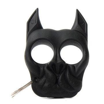 portátil protecção pessoal autodefesa cão preto chaveiro