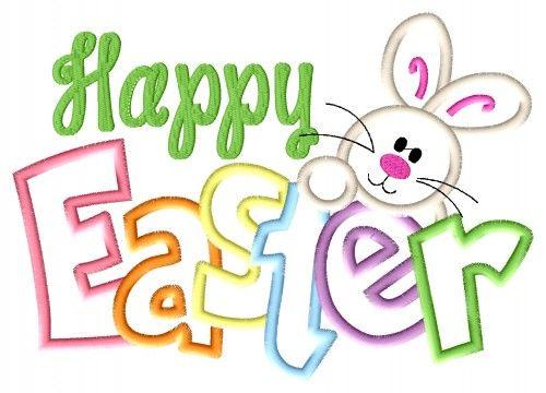 Happy Easter Bunny | Happy Easter Bunny Applique Embroidery Design