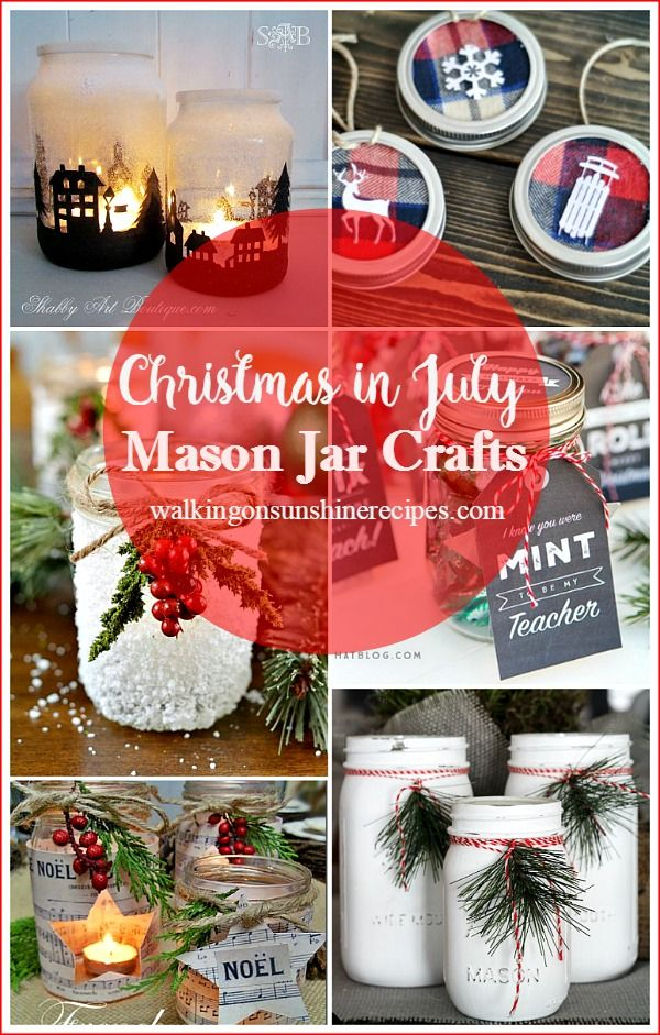 How to Make Crafts for Christmas Now in July from Walking on Sunshine Recipes