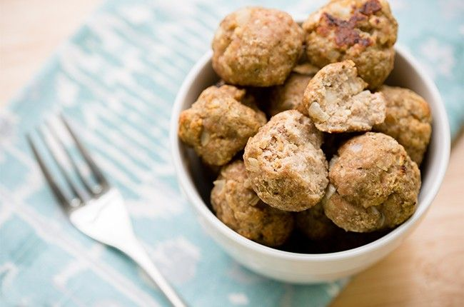 Skinny turkey meatballs. I am going to make these to go with zucchini noodles and marinara sauce!