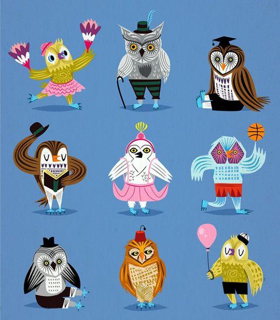 owlswearingoutfits.jpg (550×630)