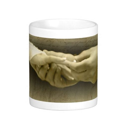 With this Ring, Romantic Vintage Wedding Love Coffee Mugs