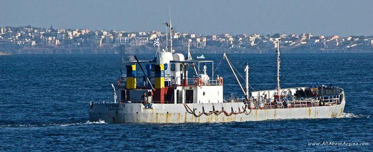 A boat close to Aegina