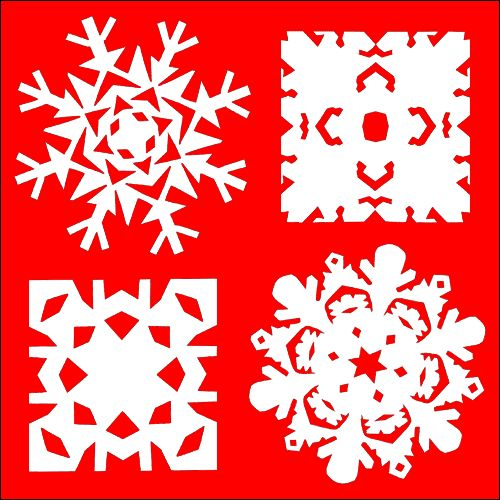 how to make paper cut out snowflakes