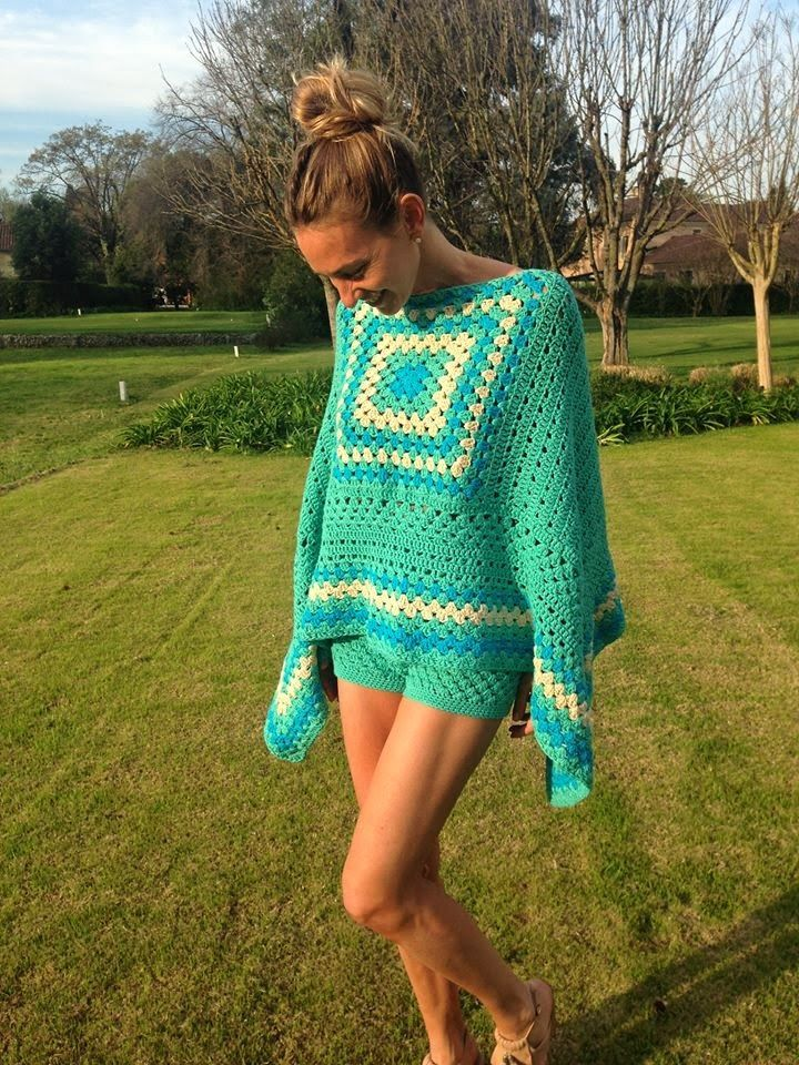 crochet awada PONCHO JULIANA - Buscar con Google