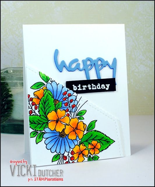 All I Do Is Stamp-- Designs by Vicki Dutcher using STAMPlorations Blossom Sprays #1