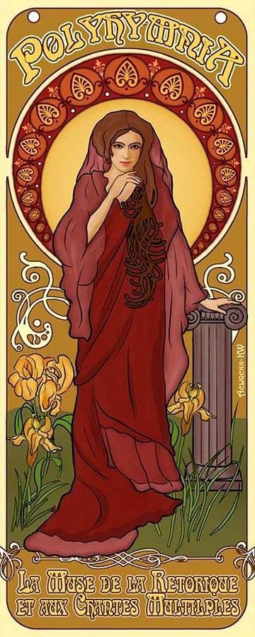 Art Nouveau Polyhymnia Muse