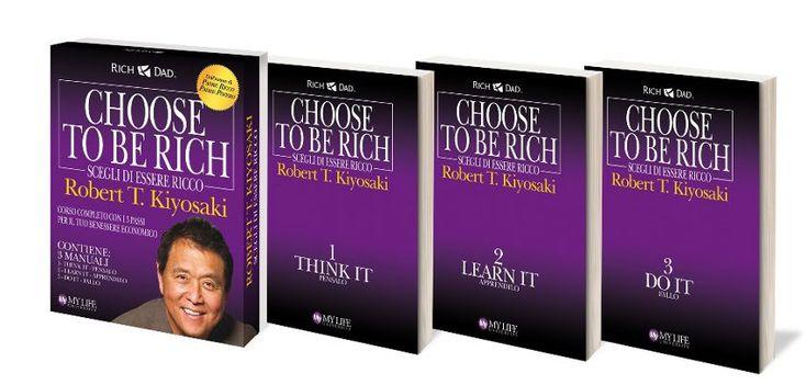 """Ieri sera ho finito di leggere la trilogia di Robert #Kiyosaki, """"Scegli di essere ricco"""". Credo sia un ottimo manuale per chiunque voglia cambiare le proprie prospettive di vita. Provare per credere...   #guadagno #libri"""