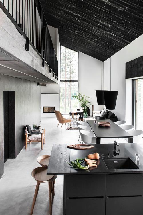 Contrasting between dark and light kitchen