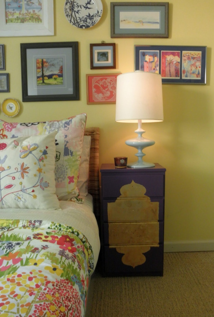 i like the pictures above the bed instead of a head board