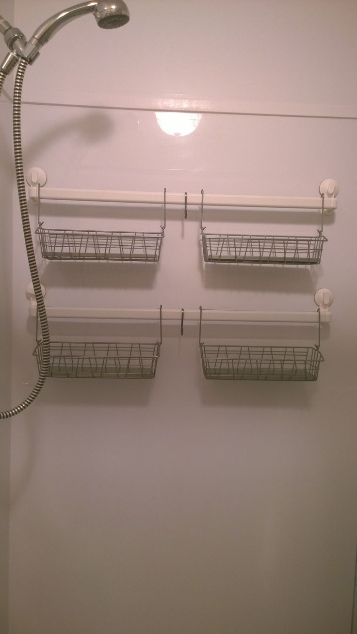 My new ikea hacked shower caddy made from stugvik Towel storage ideas ikea