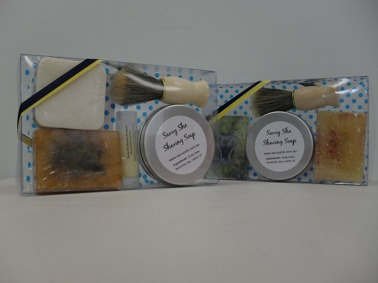 Men's $33 kit featuring our new glycerine shaving soap ~Savvy She